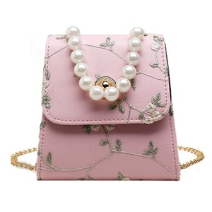 Bags for Women 2020 Women Ladies Fashion Flower BeadHandbag Lace Embroidery Pearl Top-Handle ToteShoulder Crossbody Bags