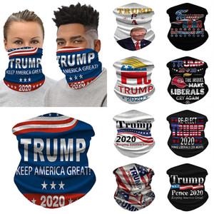 2020 Máscaras Trump 3D Magic bufanda impresa Protector solar para deportes al aire libre Máscara Montar cuello bufanda mágica XD23579