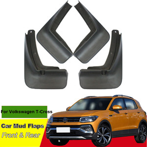 Tommia For Volkswagen T-CROSS 2019 Car Mud Flaps Splash Guard Mudguard Mudflaps 4pcs ABS Front & Rear Fender
