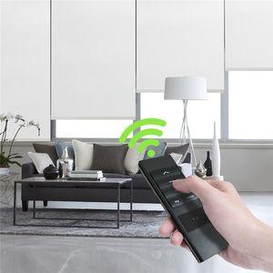 Motorizzata tonalità della finestra tende, 100% oscuranti tende a rullo, telecomando senza fili della batteria ricaricabile per smart Avvolgibili