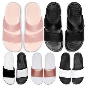 Zapatillas de moda 2020 diseñador de las obras clásicas Benassi Duo Ultra Slide hombre para mujer de verano flip flop sandalias de playa tamaño de los deportes 36-45