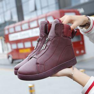 Новая внешняя торговля женская маленькая белая обувь осенью и зимой 2019 корейская мода все вокруг теплая молния плоские туфли