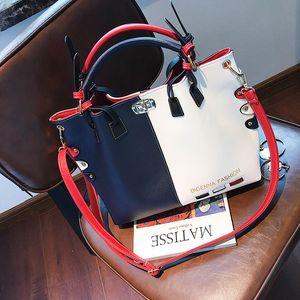 Women PU Leather bag Women's Designer Handbag High quality Contrast Lady Tote Shoulder Messenger Bag Crossbody 52
