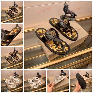 Versace flip flops xshfbcl Progettista sandales sandales Sandales stripes toboggan Progettista hommes été décontracté plage de tongs pantoufles