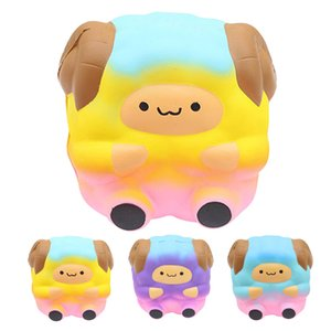 Jumbo Sheep mole bonito Galaxy arco-íris Alpaca lenta Nascente Perfumado Estresse Novidade Anti-stress brinquedos de presente brinquedos funning L1218