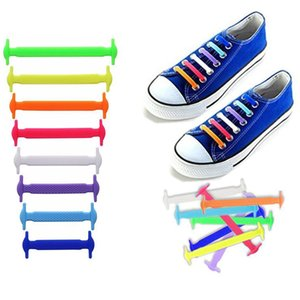 16pcs lot Silicone Shoelaces Elastic Shoe Laces Special No Tie Shoelace for Men Women Lacing Rubber Zapatillas 13 Colors
