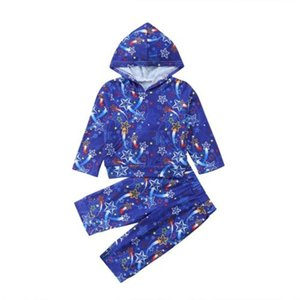 Newborn Toddler Baby Boy Girl Hooded Sweater Tops+Pants Outfits Set Clothes Size 1-4T