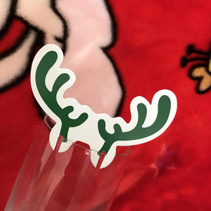 10 stücke Weihnachten Glas Zeichen Flagge Xmas Party Abendessen Zahnstocher Flagge Lebensmittel Dekoration Weihnachten Home Ornamente Dekoration