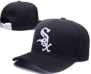 Новый дизайн бренда White Sox Шляпы Мужчины Женщины Бейсболки Snapback Сплошные Цвета Хлопок Кости Европейские Американские Стили Мода спортивная шапка