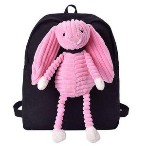mochila feminina cão Cartoon Doll Bag Student Campus Plush Backpack pato Bolsa mochila mochila feminina