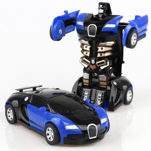 Возврат урона 2in1 RC Автомобиль спортивный автомобиль Bugatti трансформация роботов моделей дистанционного управления деформация RC боевые игрушки детские подарки1