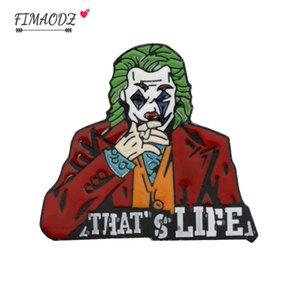 FIMAODZ 2020 Joker Clown Эмаль Pin знак на рюкзак фильм броши булавки для одежды Horror Movie Ювелирные подарок для друзей