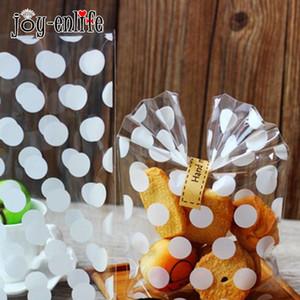 JOY-ENLIFE 20шт Белый Polka Dots прозрачный пластиковый мешок Baby Shower Детский День Рождения Свадебные конфеты печенье Supplies пакет мешок