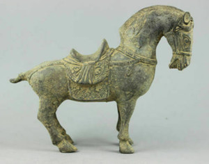Eski el yapımı bronz heykel at heykel ve ücretsiz kargo toplayın