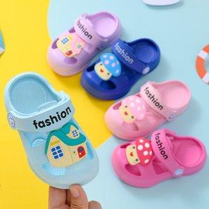 ÇOCUK Terlik Yaz yürümeye başlayan terlik BOY'S Kız Bebek Sandalet Bahçe Ayakkabı Gözenekli Ayakkabı çocuklar Gözenekli Kaymaz