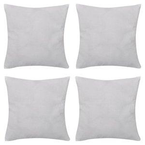 4 fundas de almohada blanco otro algodón Textile Textiles x cm 4 fundas de almohada blanco otro algodón Home Textile textiles para el hogar 40 x 40 cm