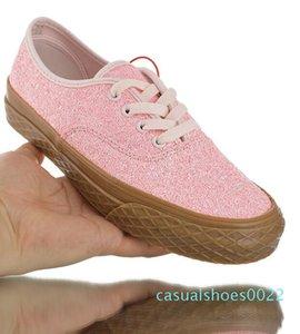 Vulkanize ayakkabı yukarı 2020 4 delik Glitter Sakız kadınlar Klasik Otantik spor ayakkabıları Dondurma Dantel 35-39 C22 plimsolls