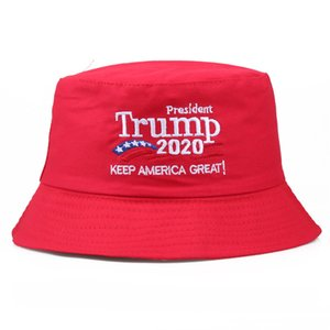Embroidery Donald Trump 2020 Foldable Bucket Dad Hat Women Outdoor Sunscreen Cotton Fishing Hunting Cap Sun Prevent Hats WCW913