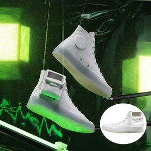 Covase X Lay Zhang Luminous Casual Shoes 3M Reflectante Desmontable Crystal Hoop Loop Tiny Pocket Designer Sports Sneaker 14