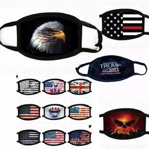 Trump маска 2020 Американских Выборы Supplies Печать Флаг США Мода пыл моющийся многоразовый Велоспорт маска Бесплатной доставки