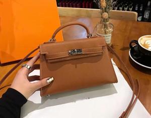 New Luxury 25 centimetri 28 centimetri 32 centimetri in vera pelle di blocco a mano borse in pelle Donne Borse Top-Handle Borse di spalla delle signore donne Messenger Bags