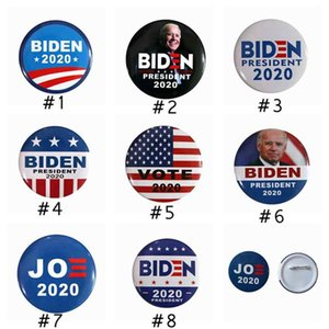 8 Styles Joe Biden Brooch 2020 US Presidential Election Biden Badge Tinplate Election Badge Party Favor ZZA2221 3000Pcs DHL free