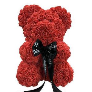 """9 """"Rose Bear Sabão Flor Teddy Wedding Aniversário Dia Dos Namorados Presente de Casamento Criativo Meninas Favor DEC473"""