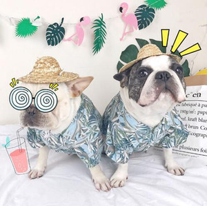 2019 New Arrival Hawaii Style Summer Cool Dog T-shirt Breathable Pet Shirt for dogs and cats