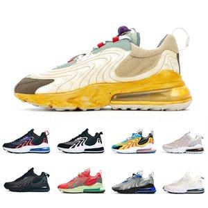 Nike air max 270 React ENG Travis scott Stock X Cactus Trails 270 React ENG Mens Running shoes 270s Royal Laser Blue Pale Pink Men women outdooor sports designer sneakers 36-45