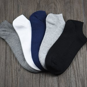 New 5 Pairs Men Socks Cotton Short Ankle Breathable Casual For Sports Running Business Drop Shipping