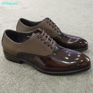 QYFCIOUFU Stitching Scarpe uomo formali originali scarpe di cuoio Oxford For Men 2020 brogue in pelle abito da sposa Laces