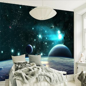 Bacal Custom photo wallpaper 3D large wall murals stickers 3D vast universe star planet living room TV tooling background