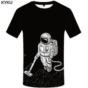 Tişört Erkekler Galaxy Gömlek Baskı Siyah Anime Giyim Harajuku Komik Tişörtler Gotik Tişört Baskılı Erkek Giyim