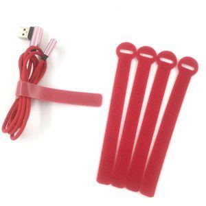 Band 5 Farben Umreifungsausrüstung Wiring wählen Magic Tape Harness Bänder Kabelbinder Tie Cord Computerverwaltung Kabelbinder