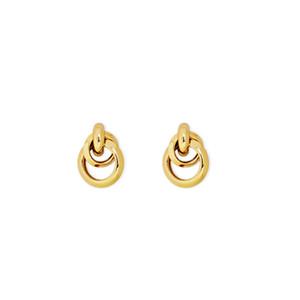 18K سبائك الحد الأدنى أنيق الأقراط دائرة مبالغ فيه مطلية بالذهب والمجوهرات الصينية الأقراط هندسية