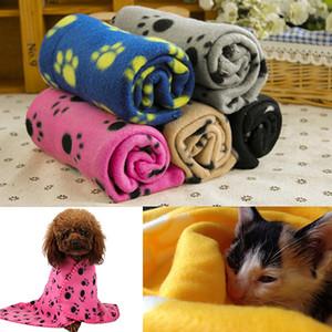 Pet Dog Blanket Dog Claw Printed Blankets Throws Pet Cat Sleeping Mat Pets Bath Towel Warm Winter Pet Supplies