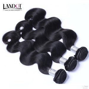 A Brazilian Body Wave Virgin Hair Cheap Peruvian Indian Malaysian Cambodian Human Hair Weave 3 4 Bundles Natural Black 1b Remy Hair Ext