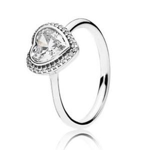 Originale Puzzle 925 Sterling Silver Ring Jewelry Cuore Ring per Pandora donne Festa di fidanzamento Wedding Fashion regalo di anniversario