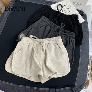 DIWEINI Summer Casual Shorts Woman 2020 Plus Size High Waist Booty Shorts Female Black White Loose Beach Sexy Short S-3XL