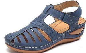 YEELOCA 2020 Shoes New cunhas para Mulheres M002 Verão Sandals Gladiator Casual Platform Sandals VC021