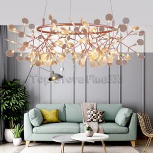 Firefly Kronleuchter Nordic kreative Persönlichkeit einfache moderne atmosphärische Pendelleuchten Schlafzimmer Lampe Wohnzimmer Restaurant Kronleuchter