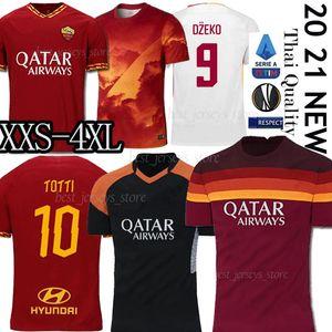 Thai AS jersey maglia roma calcio DE ROSSI DZEKO Zaniolo Roma TOTTI PEROTTI maglie kit camicia 19 20 21 di calcio 2020 Men + Bambini