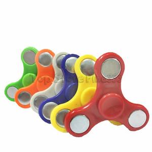 Fidget Spinner Ручной прядильщик Tri Fidget Ball Desk Focus Игрушка EDC для убийства времени для детей Взрослые против куба с непоседой случайный цвет