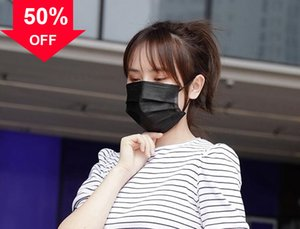 qhBi2 Factory price disposable 3-layer cute face masks with earloops pm2.5 protective anti dust non-woven m