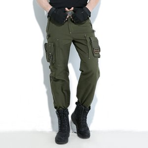 Freedom Knight Outdoors Cargo Pants Multi Pocket Jersey Men army green military Hiking camping long Trousers