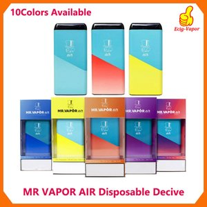 Newst MR VAPOR AIR jetable Vape Appareil Puff P Emballage Pod Starter Kit 280mAh batterie de cartouches vides Vaporizer pk Puff Bar