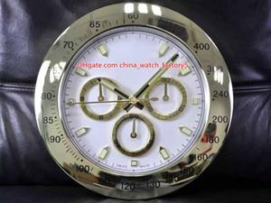 10 Stil Hohe Qualitätsuhr Wanduhr 34 cm x 5 cm 2kg Edelstahl Quarz Elektronische blaue Lumineszenzkosmograph 116508 Uhren Uhr