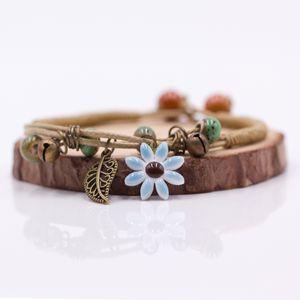 ashion Takı Bilezikler Bayanlar Çiçek yaprak Seramik eli Mücevher wholesal ... kadın kız hediye için DIY Bilezikler Artware Retro bilezik yapılan