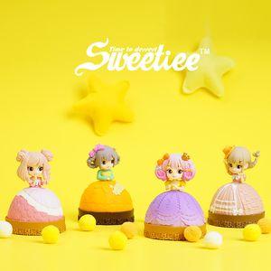 Симпатичные Sweetiee конфеты принцессы куклы, Blind Box, торт Преобразовать в Хорошенькая девочка, 4 Стили, Украшение Xmas Kid именинница Gift, Collect, 2-2