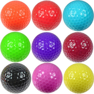 100pcs carton GOLF practice ball double deck GOLF ball color gift driving range ball